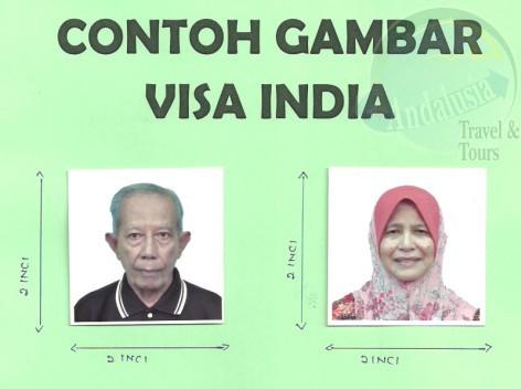 Contoh Gambar Visa India