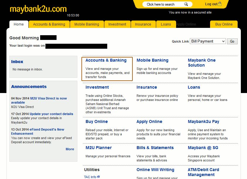 m2u Account & Banking