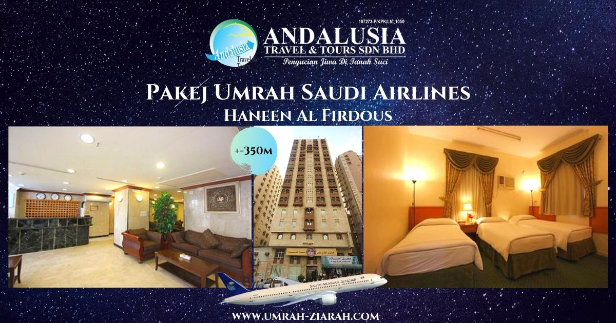 Umrah Direct Flight Saudi (Hotel Haneen)