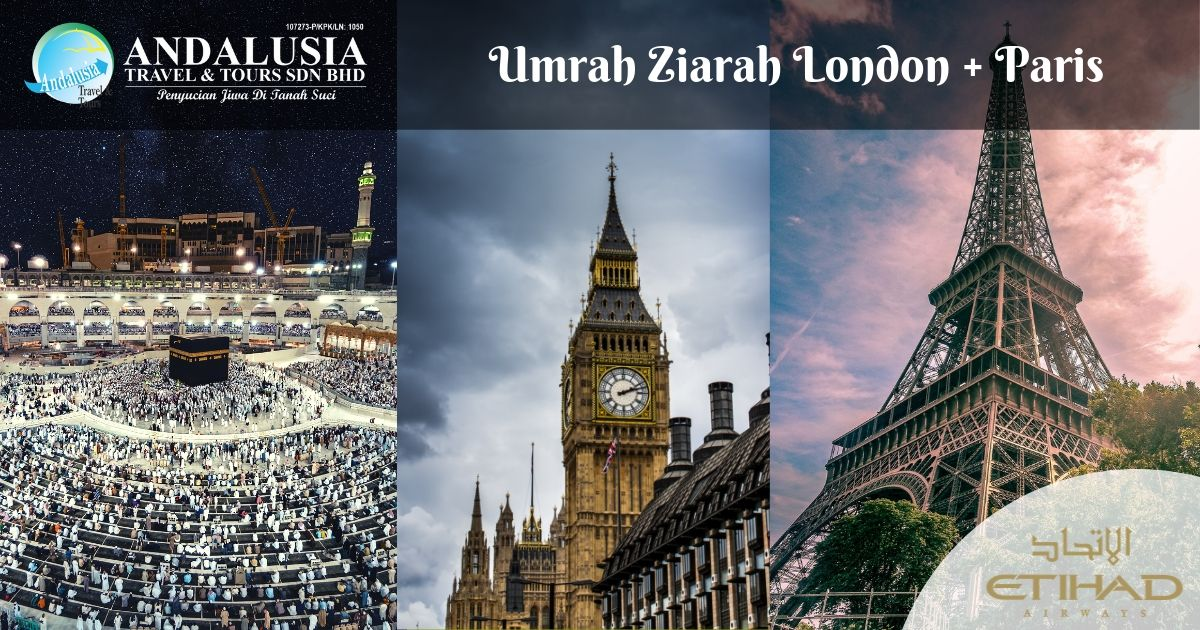 Umrah Ziarah London + Paris