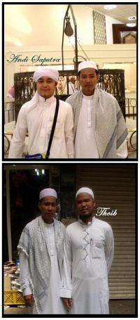 Hjh Misiah-Anak lelaki bersama Mutawif (ustaz Andi & ustaz Thoib)